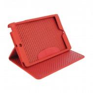 Funda de piel para iPad Mini rojo