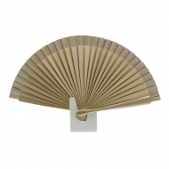Abanico bolso diseño mini madera oro
