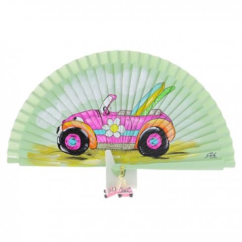 https://cache.paulaalonso.es/10791-106136-thickbox/abanico-verde-diseno-coche-rosa-y-tablas-surf.jpg