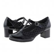 Zapatos estilo merceditas piel y textil Pitillos