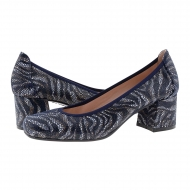 Zapatos salón piel marino imitación serpiente