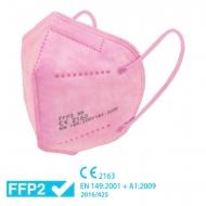 Mascarilla FFP2 rosa - Homologada CE