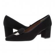 Zapatos piel ante negro punta fina