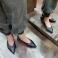 Zapatos de piel planos punta fina  117573