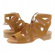 Sandalias estilo romano piel serraje cuero