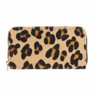 Billetero tarjetero piel leopardo