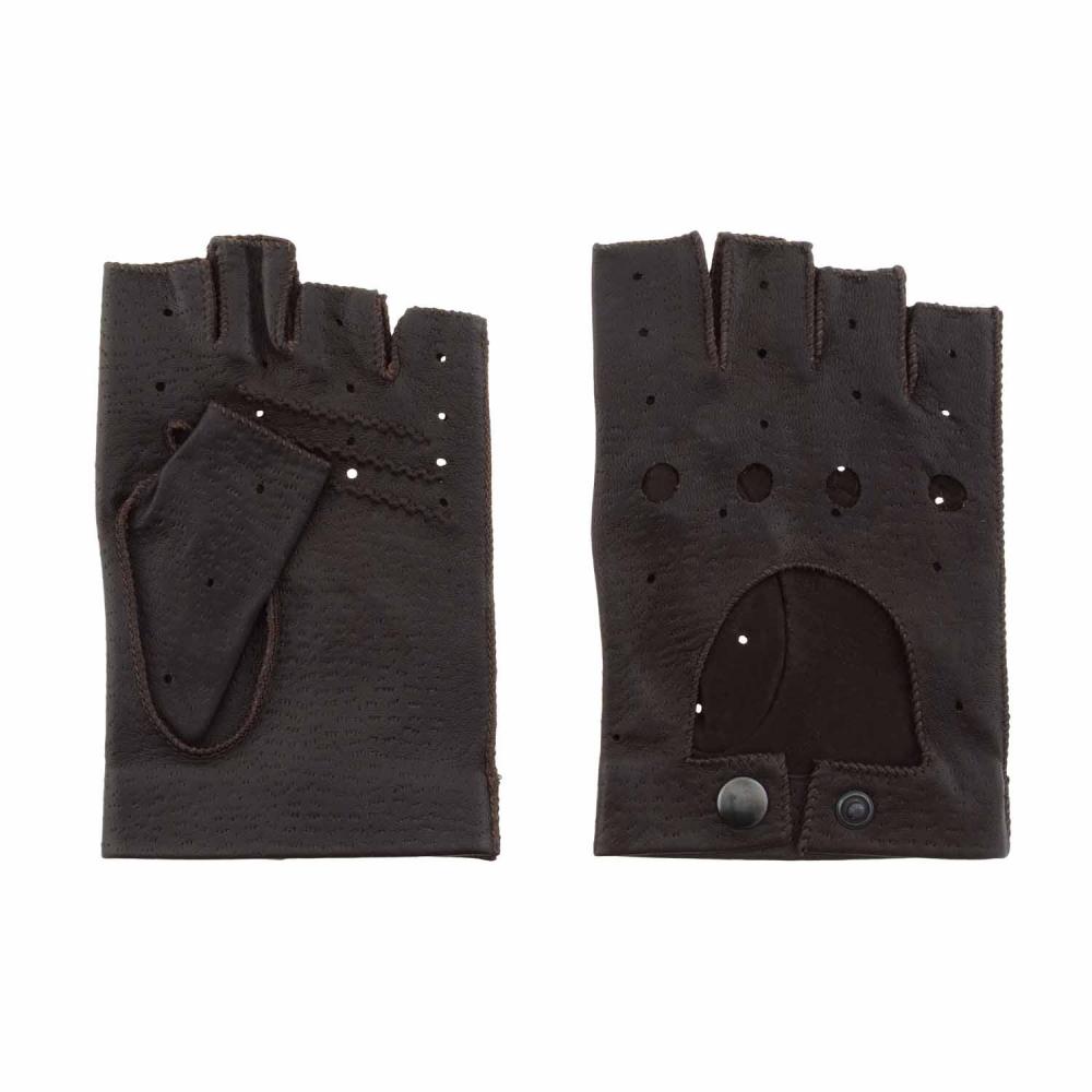 Guantes sin dedos de piel para conducir paula alonso for Guantes de piel madrid