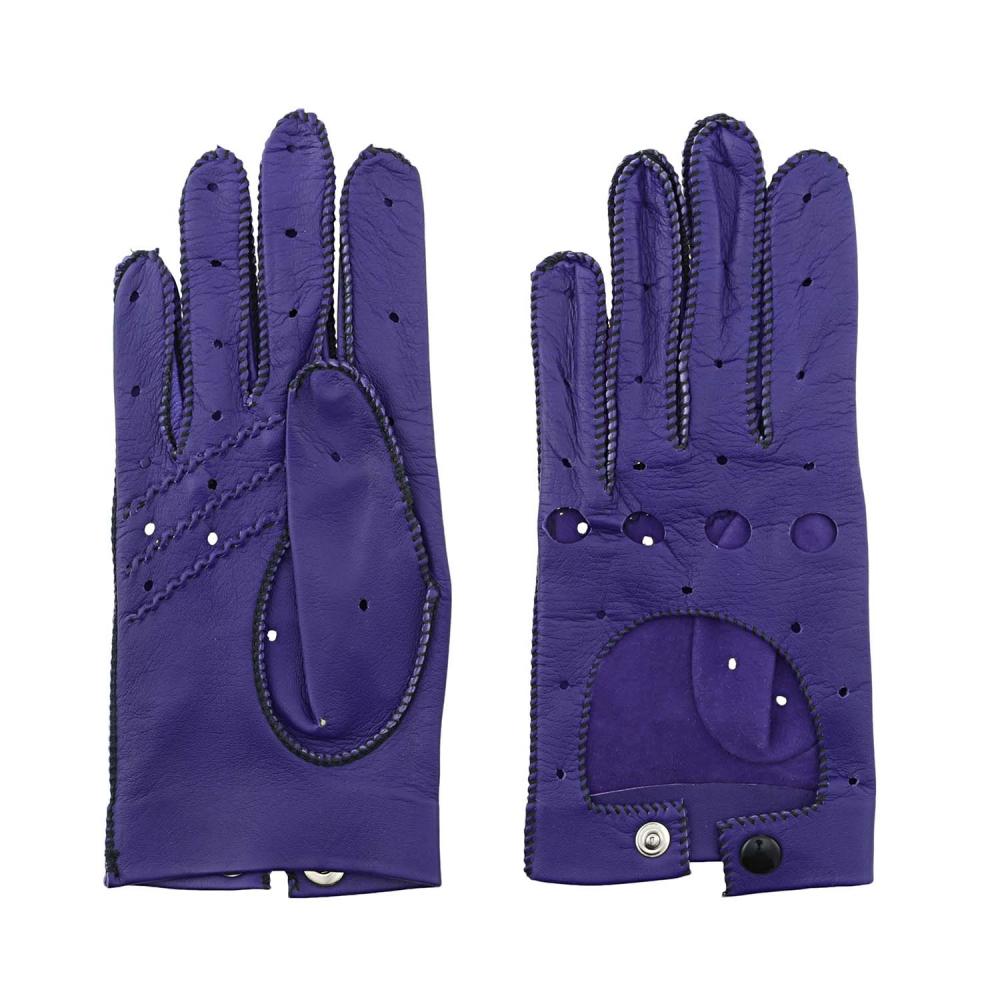 Guantes de piel con dedos para conducir paula alonso for Guantes de piel madrid