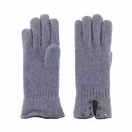 Guantes en lana con tachas vivo en piel