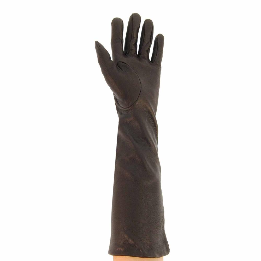 Guantes largos de piel lisa paula alonso tienda online for Guantes de piel madrid