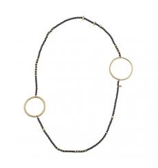 def618744ddf Collar largo adornos de aros metálicos