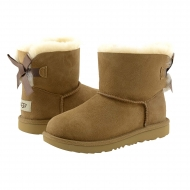 Botas piel 1017397K Kids Mini Bailey Bow II UGG