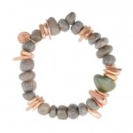Pulsera piedras adornos metálicos